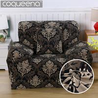 luxus wohnzimmermöbel großhandel-Luxus Universal Elastic Stretch Sofa Abdeckung für Sessel 1 Sitz Stuhl Wohnzimmer Dekorative Möbelbezüge 100% Polyester
