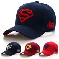 gorra de sol de superman al por mayor-2019 ocasionales de los nuevos Carta Cap Superman gorras de béisbol al aire libre para las tapas de los hombres sombreros del Snapback de las mujeres para el adulto Sombrero de sol Gorras por mayor