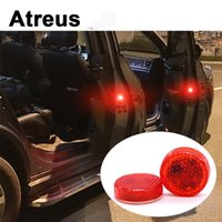 luces de advertencia de acura al por mayor-Atreus 2pc Señal de advertencia de la puerta del coche luces estroboscópicas de choque LED para Mitsubishi ASX Acura Jeep Renegade 500