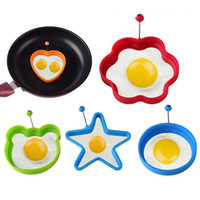 Wholesale silicone egg molds resale online - Silicone Egg Ring Breakfast Silicone Egg Molds Pancake Egg Moulds Cooking Tools Frying Eggs Mould Kitchen Gadgets