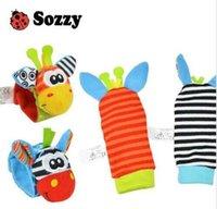 satılık bebek çorapları toptan satış-Sale-3 çocuk Bulmaca Sevimli Oyuncaklar Hyun Renk Sozzy Bebek Oyuncak Çorap Bebek Oyuncakları Hediyeler Peluş Bahçe Bug Bilek Çıngıraklar