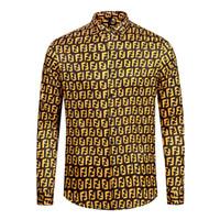 las mejores camisetas de marca para hombre. al por mayor-Mejor venta de los últimos hombres de la marca de moda de lujo camisa de lujo de diseño de la marca de la marca de la camisa de manga larga casual de belleza dusa de los hombres M-2XL