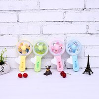 Wholesale cute hand fan resale online - New hand mini portable hand creative cute Candy colored flashing lights with small fans