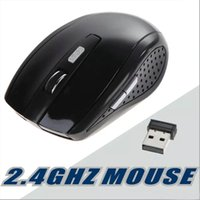 Wholesale tablets for gaming resale online - 2 GHz Optical Wireless Mouse Receiver mouse Smart Sleep Energy Saving Mice for Gaming Computer Tablet PC Laptop With Retail Box OM N9