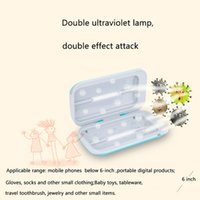 Double UV Sterilizer Box 99.99% Antibacteria Ultraviolet Disinfection Cabinet USB Charging Phone Mask Jewerly Watch Cosmetic Brush Cleaner