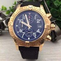relojes de memoria al por mayor-Relojes para hombres Manteniendo la memoria del tiempo Reloj de pulsera para exteriores preciso Cronógrafo de cuarzo Relojes para hombres con bisel dorado de acero inoxidable