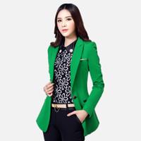 Qualitäts Frauen Blazer und Jacken Herbst Langarm Büro Arbeit Anzug Outwear Schwarz Grün Blaser Femme Plus Size 4XL