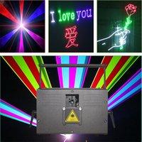 disko tarayıcıları toptan satış-Ücretsiz Kargo 10 W RGB lazer animasyon tarayıcı projektör ILDA DMX dans bar Noel Partisi Disco DJ etkisi Işık sahne Işıkları Show sistemi