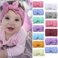 Wholesale tree purple flowers for sale - Group buy Christmas Lovely Newborn Baby Toddler Girl Kid Bow Flower Hair Band Turban Headband