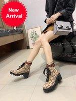 bej dantel botları toptan satış-Yün Ayak bileği Boot Bej / abanoz Çizme Lug Soled Heeled Patik Dantel-up gözleri Avustralya Kadınlar Kar Boots Sneaker 9 ile