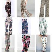 ingrosso mescolare i pantaloni di yoga-Pantaloni da yoga Pantaloni da maternità Pantaloni da donna a fiori larghi Gamba da donna Sport allentati Colori lunghi sciolti Mix 22yq F1