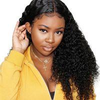 hint kadınları için doğal saç perukları toptan satış-13x4 derin dalga peruk hint İnsan saç peruk 8-20 inç hint derin dalga İnsan saç kadınlar için peruk doğal renk