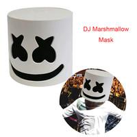 weiße partymasken zum verkauf großhandel-DJ Marshmallow Mask Modische Halloween Party Night Club EVA Weiße Maske Erwachsene Cosplay Kostüm Helm Verkauf