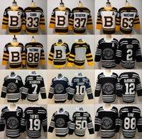 bruins inverno jersey venda por atacado-Boston Bruins 2019 Inverno Clássico Chicago Blackhawks Toews DeBrincat Patrick Kane Seabrook Crawford Pastrnak Bergeron Marchand Chara Jersey