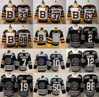 bruins winter jersey großhandel-Winter-Klassiker Chicago Blackhawks Toews DeBrincat Patrick Kane Seabrook Crawford Pastrnak Bergeron Marchand Chara Jersey Boston Bruins 2019