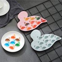 niedliche geleeform großhandel-Niedlichen Cartoon Flamingo Eismaschine Mold Silikon Schokolade Jelly Form DIY Eiswürfelschale Backformen Schokoladenformen