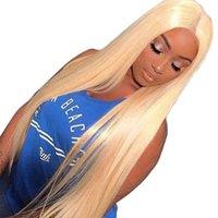 pelucas de encaje suizo completo al por mayor-Peluca llena del cordón # 613 hd suiza Rubio transparentes frontales pelucas de encaje con el bebé sin cola brasileña virginal del pelo pelucas de cabello humano