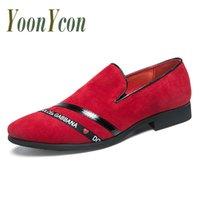 zapatos de vestir de italia para hombres al por mayor-2019 Zapatos de vestir de lujo para hombres Británicos Vintage Hombres Zapatos Traje Mocasines Negro Italia Marca de vestido de moda
