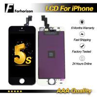 ingrosso trasporto libero dhl 5c-Per iPhone 5S 5C 5G display LCD grado A +++ nero bianco di alta qualità con touch screen digitizer spedizione gratuita dhl