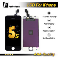 écran lcd pour iphone 5g achat en gros de-Pour iPhone 5S 5C 5G LCD Display Grade A +++ Blanc de haute qualité avec écran tactile Digitizer Livraison DHL gratuite