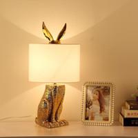 Wholesale office table lights resale online - Modern Gold Table Lamp Lustre Design Light Fixtures Living Room Bedroom Bedside Office Art Decor Home Lighting Fabric Lampshade