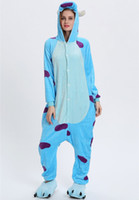 warme kostüme großhandel-Fleece Kinder Onesie Erwachsene Pyjamas Cartoon Nachtwäsche Kostüm Frauen Männer Cosplay Winter Warm Kigurumi Pyjama KD-067
