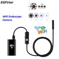 mini usb kablo inceleme kamera toptan satış-telefon için Fabrika Fiyatı WIFI Endoskop Kamera Mini Su geçirmez Yumuşak Kablo Gözlem Kamerası 8mm USB Şarjlı Endoskop Android Endoskop