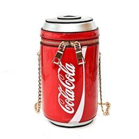 Wholesale mini cola for sale - Group buy Summer Fashion new handbags High quality PU leather Women bag Personality cola cup Sweet girl Mini Chain Shoulder Messenger Bag