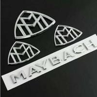 vordere kotflügelseite großhandel-4PCS für Maybach Fender Side Rear Trunk-Emblem-Abzeichen AMG für Mercedes Benz S-Klasse