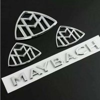 parte traseira do emblema de benz venda por atacado-4pcs para o emblema traseiro do emblema do lado do pára-choque de Maybach AMG para a classe do Benz S de Mercedes
