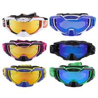 copos de pipa venda por atacado-Motocicleta À Prova de Vento Anti-Fog Dustproof Óculos de Proteção Da Motocicleta Óculos Lente Colorida para o Veículo de Esqui Kite Surf