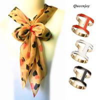 chal tibet al por mayor-BS041 manera de las mujeres más cartas calidad de latón H color de esmalte broches / mantón bufandas accesorios de clips de aro / bufanda hebilla 15 PC / porción