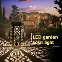 Wholesale pathway lighting resale online - Waterproof Solar Garden Lights Hanging Garden Decoration Lamp Yard Patio Pathway Ground light Solar Led Lawn Light warm white