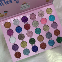 Wholesale unicorn palette resale online - Newest long lasting colors glitter eye shadow Romanky cosmetics party like a glittery unicorn eye pressed powder palette makeup
