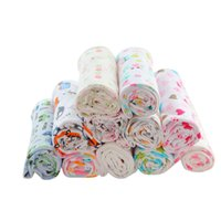 manta de bebé de calidad al por mayor-Impresión de bebé Capas de doble capa 100% ropa de cama de algodón Swaddle Toalla para recién nacidos Swaddle Blanket de alta calidad