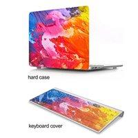 ingrosso macbook pro retina 13 tastiera-Custodia protettiva colorata inchiostro graffiti modello rigido di plastica per MacBook Air 11 12 13 15 pollici Retina Pro con copertura della tastiera
