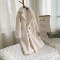 2020 Winter Teddy Coat Women Faux Fur Coat Teddy Bear Jacket Thick Warm Fake Fleece Jacket Fluffy Jackets Plus Size Overcoat
