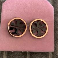 caixa de porcelana de aço inoxidável venda por atacado-2019 homens moda rosa negra Cores de Aço Inoxidável Moda Design Brinco Banhado A Ouro Pregos Para As Mulheres Preço de Atacado Caixas de Jóias de Casamento