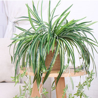 Wholesale artificial wall hanging basket flowers for sale - Group buy 2PCS Decor Flower Artificial Indoor Simulation Climbing Plants Wall Hanging Ferns Grass Trailing Fake Greenery Basket Outside