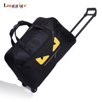 Wholesale luggage resale online - Cabin Luggage Bag Portable Suitcase Waterproof Oxford cloth monster Travel Trolley Dragboxes Large capacity Handbag with wheels