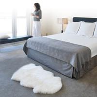 ingrosso coperture di sedia blu-Artificiale pelle di pecora imitazione lana copre casa decorazione della casa tappetino tappeto sedia divano tappeti letto caldo soggiorno