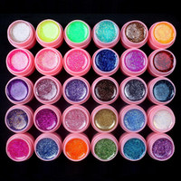 Wholesale pink glitter tips for sale - Group buy 30 Glitter Mix Colors UV Builder Gel Acrylic Set for Nail Art Tips Pink New