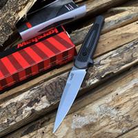 nuevo cuchillo de supervivencia del campamento al por mayor-Nuevo Kershaw 7150 Cuchillo táctico automático CPM154 Hoja de aleación de aluminio de aviación + fibra de carbono Herramientas de supervivencia de caza para acampar al aire libre