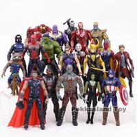 super man figuren großhandel-Rächer Unendlichkeitskrieg Marvel Super Heroes Spielzeug Iron Man Captain America Hulk Thanos Spiderman Action Figure Set Sammlerspielzeug Y19051804