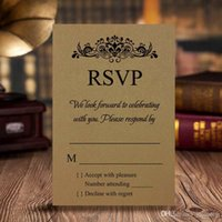 cartões livres do rsvp venda por atacado-Cartão Personalizado RSVP / Cartão de Resposta / Cartão de Recepção Suporte de Impressão Gratuita, A ++ Boa Qualidade Frete Grátis