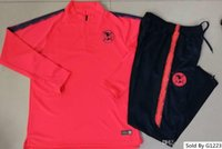 uniformes de futbol mexico al por mayor-Survetement 2018 México club America chaqueta Traje de entrenamiento Fútbol 18 19 UNAM Chándal de fútbol Conjunto Uniformes de manga larga Camisas