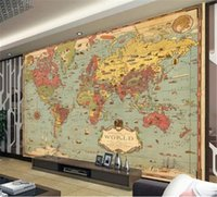 Papel Pintado Vintage Mapa Del Mundo Papel Pintado Decorativo 3d En La Pared Fondo De Tv Interior Papel Tapiz De Decoración De Pared