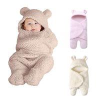 Wholesale sleeping beds resale online - Baby Sleeping Bag Newborn Baby Winter Bedding Pajamas Stroller Bag Thickening Warm Wool Lamb Blanket For Years