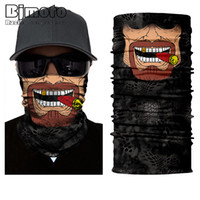 Wholesale mask mouth bike resale online - Bjmoto New Skull Mouth Windproof Mask Ski Caps Bike Motorcycle Balaclavas Scarf Ski Mask Bandana Balaclava Hunting Fishing