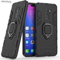 Wholesale armor case xiaomi for sale – best Mobile Phone Accessories Mobile Phone Cases Covers For Xiaomi POCOPHONE F1 Cover POCO F1 Case Car Holder Magnetic Suction Ring Bracket Armor